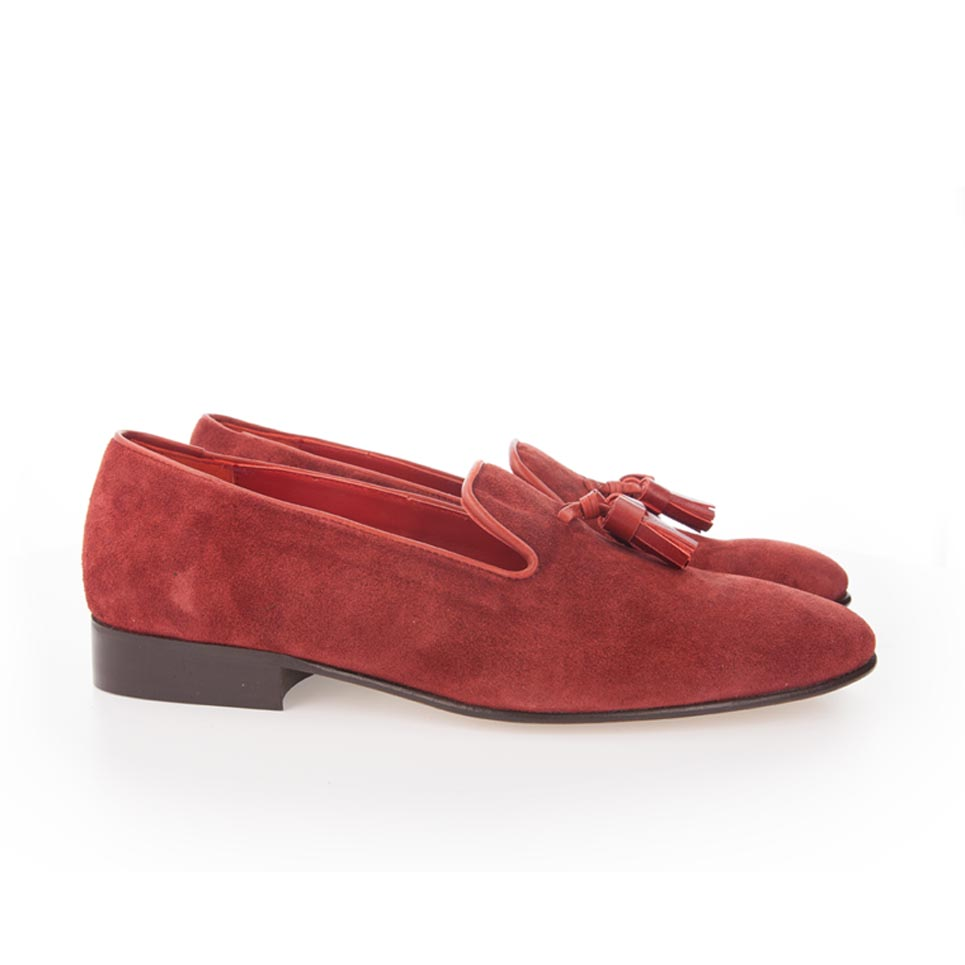 london mocasines rojos borlas slippers