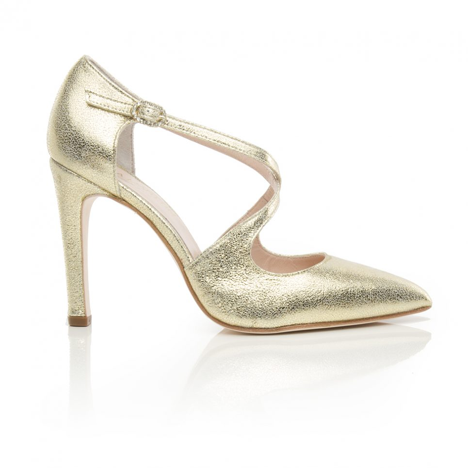 bridal, golden shoes, pumps,